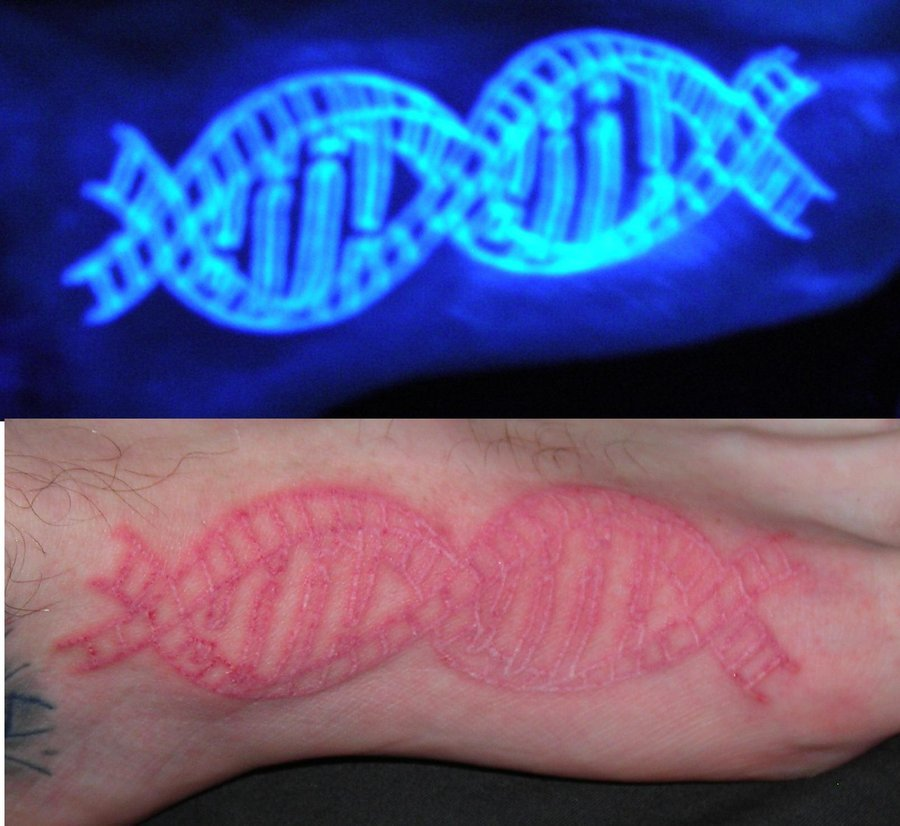 Invisible DNA Tattoo by LucidPetroglyphs666 DNA Ink